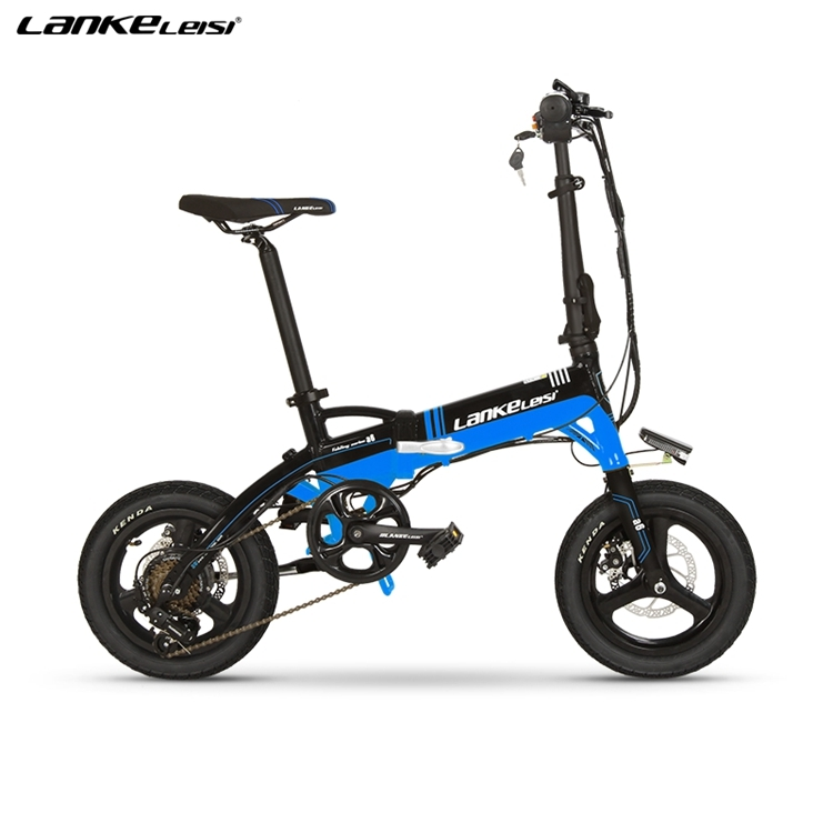 "A6 EU Quality Level 14"" inch portable Folding Electric Mini Bicycle Adjustable  for Cycling with LG Lithium Battery 4"