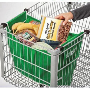 Składana duża torba na zakupy zielona pojedyncza warstwa włókniny przenośne przyjazne dla środowiska ekologiczne torby wielokrotnego użytku narzędzie do przechowywania w gospodarstwie domowym tanie i dobre opinie Amerykański styl Włókniny tkaniny Bags Baskets Supermarket shopping bag Non-woven fabric Green Stylish Eco-Friendly