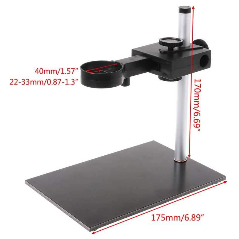 Universal Digital USB microscopio soporte ajustable arriba y abajo