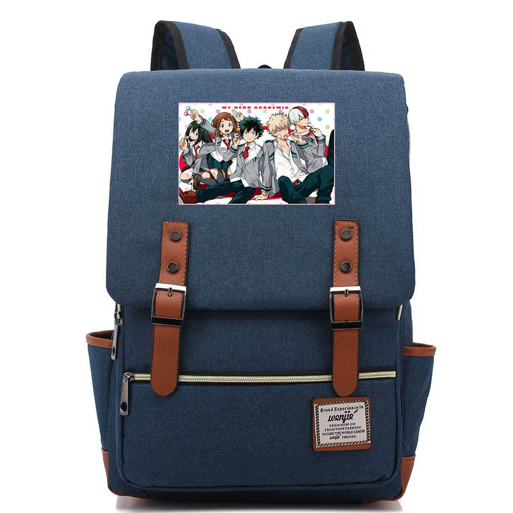 My Hero Academia Preppy School Bags Canvas Bookbag Anime Women Cute Backpack Large Travel Bagpack Men Nylon Laptop Backpack