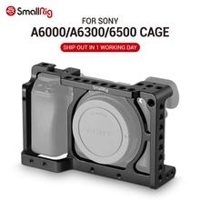 SmallRig estabilizador de jaula de cámara A6300 para Sony A6300/para cámara Sony A6000 / Nex 7 con agujeros de rosca de montaje de zapata para opciones de bricolaje