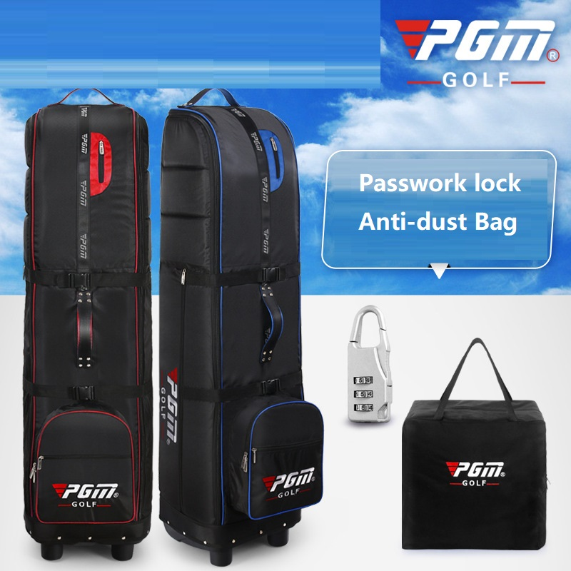 PGM Brand Foldable Golf Aviation Bag Thicker Golf Bag With Wheel Air Carrier Bag Padded Airplane Travel Thicken Package Cover