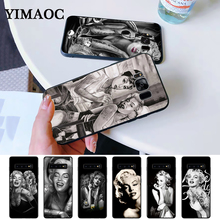 Marilyn Monroe tattoo Silicone Case for Samsung S6 Edge S7 S8 Plus S9 S10 S10e Note 8 9 10 M10 M20 M30