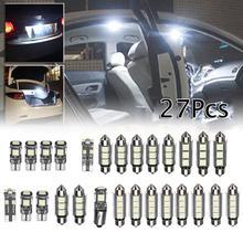Juego de minibombillas LED blancas para el interior del coche, accesorios de iluminación, blanco, para Mercedes-Benz Clase E, W211, 02-08, 27 unidades