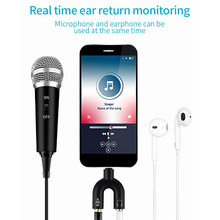 3,5mm Jack Aufnahme Kondensator Mikrofon Karaoke Mikrofon für Telefon PC Computer Mini Mic Singen Streaming Mikrofon