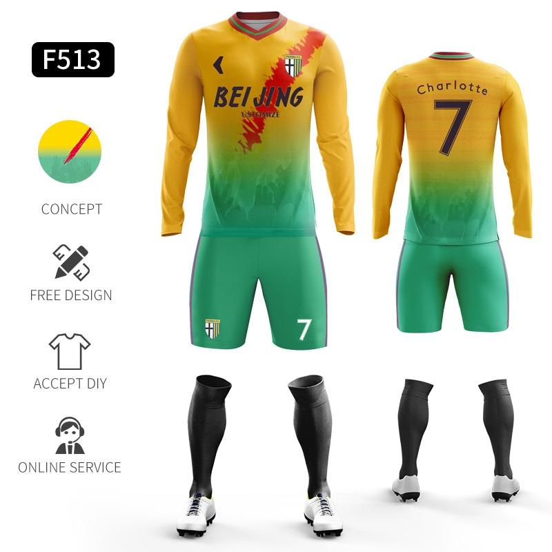 Custom Football Jerseys Full Sublimation Printing Soccer Jerseys Club Team Football Training Uniform Suit Soccer Uniform For Men 26