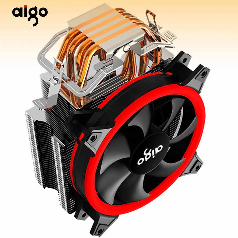 Aigo E4 قطعة وحدة المعالجة المركزية مروحة التبريد برودة 4 أنابيب الحرارة مروحة تبريد لوحدة المعالجة الرئيسية المبرد مبادل حراري من الألومنيوم وحدة المعالجة المركزية برودة ل LGA775/1155/1156/1366/AMD