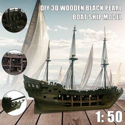 1:50 DIY Die Schwarz Perle Modell Schiff Kits Für Geschenk Für Fluch Der Karibik Diy Set Kits Montage Boot spielzeug modell kit