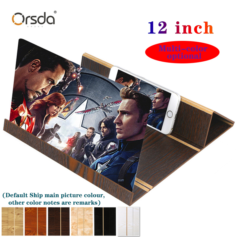 Orsda 3d Phone Screen Amplifier 3D Mobile Phone Screen Amplifier 12-Inch Fashion 3d Phone Screen Amplifier Phone Holder Mount