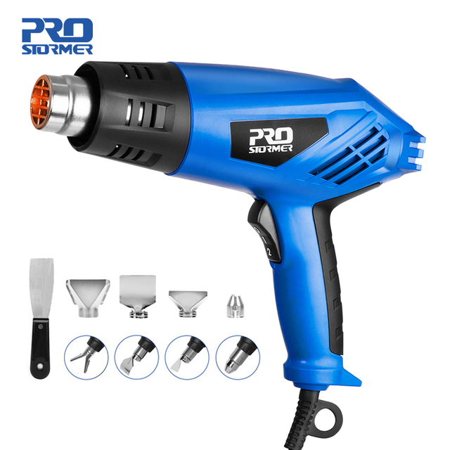 2000W Heat Gun Variable 2 Temperatures Electric Hot Air Gun with Four Nozzle Attachments Industrial Power Tool by PROSTORMER 1