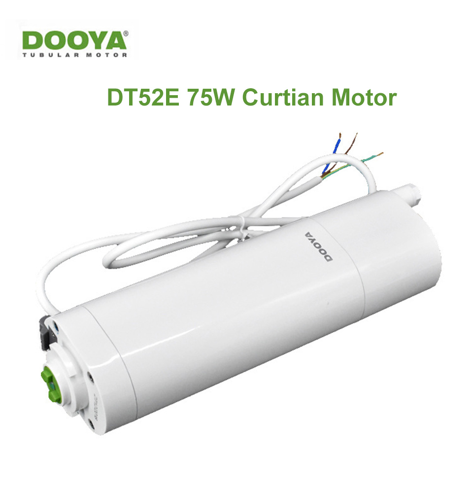 Original Dooya DT52E 75W Electric light touch Curtain Motor 433MHZ remote control by phone via Broadlink RM4 pro Smart for Home|Home Automation Modules| |  -