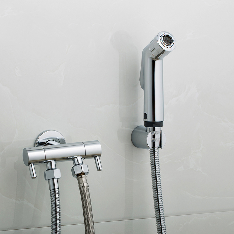 Handheld Shower Head Bidet Spray Set Wall Mounted Shower Faucet Bidet Hose Holder Angle Valve For Bathroom Sprayer Self Cleaning Bidets Aliexpress