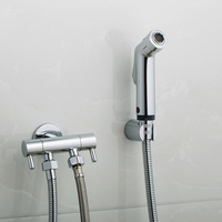 Handheld Shower Head Bidet Spray Set Wall Mounted Shower Faucet Bidet Hose Holder Angle Valve for Bathroom Sprayer Self Cleaning