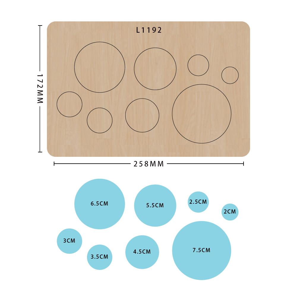 Circles Of Different Sizes Wooden Cutting Dies For Scrapbooking Making Decor Supplies Dies Template