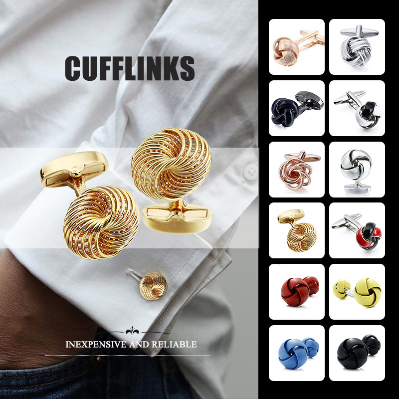 HAWSON High Quality Knot Cuff Links For Men's Wedding Gift Cufflinks Without Box