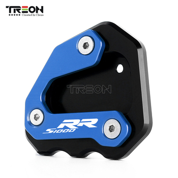 TREONMOTO CNC Aluminum Motorcycle Kickstand Side Stand Enlarge Extension For BMW S 1000 RR S1000RR 2009-2014 2015 2016 ljbkoall cnc kickstand side stand plate pad enlarge extension for 2012 2015 bmw c600 sport c650gt c650 sport 2013 2014
