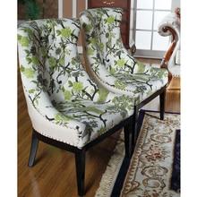 French elegant floral armchair leichair chair hotel lobby decoration Francese elegante floreale poltrona leichair sedia GH105