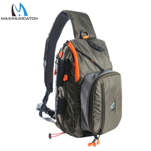 Maximumcatch Fly Fishing Sling Bag Multi Purpose Shoulder Fishing Back pack with Fly Patch