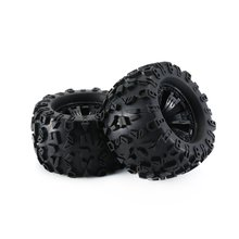 1 Pair RC Car Short Course 1/8 Scale On-Road Buggy Tire Set for 1/8 Losi 5ive T Rovan LT Kingmotor X2 BAJA 4WD baja cnc alloy rear upper connecting plate set for 1 5 hpi rovan km baja 5b 5t 5sc rc gas parts