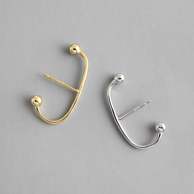 2019 NEW 100 925 Sterling Silver Stud Earrings for women Cartilage Helix Piercing Earring Wedding Christmas Party gifts in Stud Earrings from Jewelry Accessories