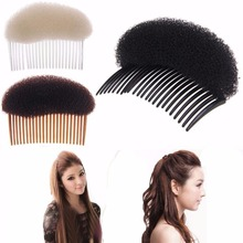 Comb Hairpin Hair-Accessories Bun-Maker Plastic Black Brown White 1PC Women-Tool Fashion