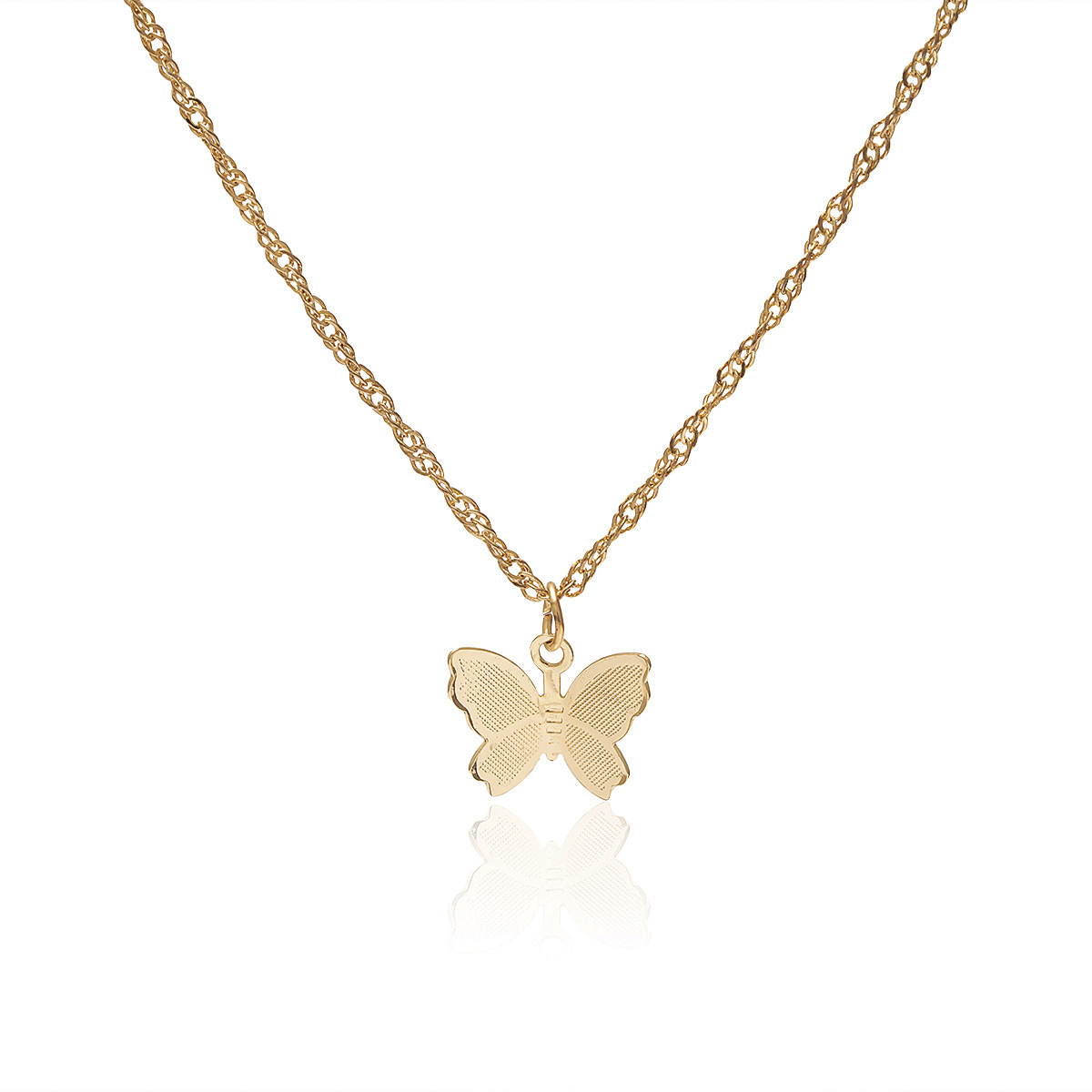 Trendy Butterfly Necklace Women Cool Geometric Tassels Pendant Elegant Single Layer Choker Butterfly Necklace Jewelry For Girls