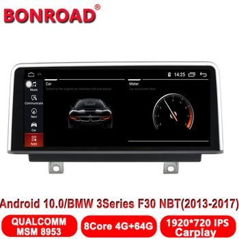 Bonroad Car Radio for BMW F30/F32 Touring 318d/Coupe 435i/GT/Hatchback Gran Turismo328 Android 10.0 Unit Multimedia Player image
