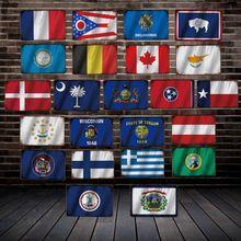 [ DecorMan ] Country France Canada Flag TIN SIGN Custom wholesale Mural Paintings Bar PUB Decor LT-1894