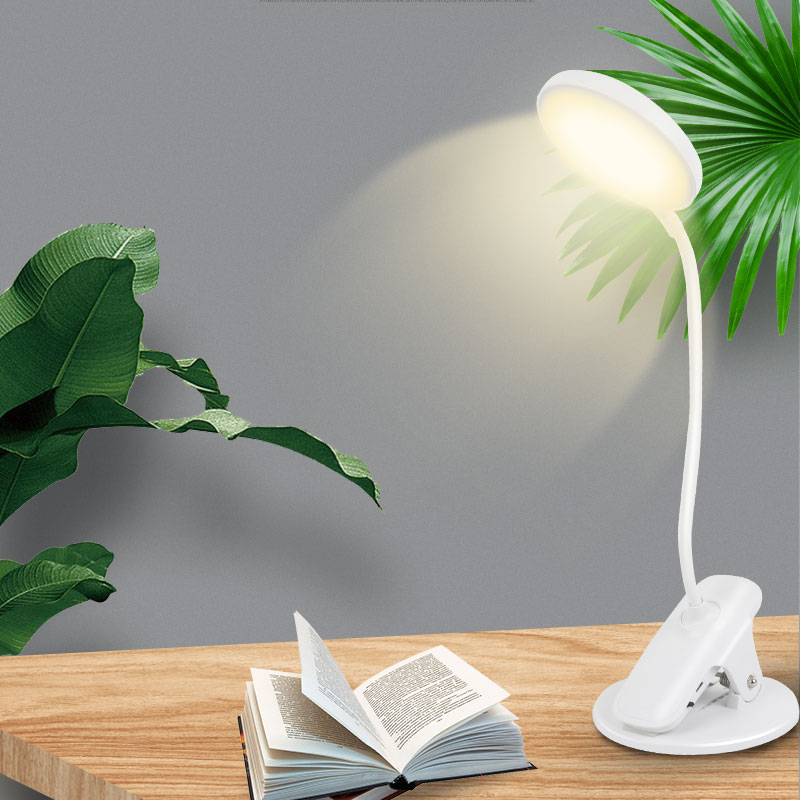 USB Table Light Night Lights Clip Wireless Table Lamp Study Temperature Brightness Touch Rechargeable LED Reading Desk Lamp DA