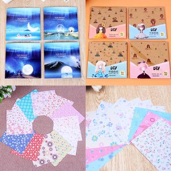 Słodki sen wzór kwiatowy papier origami papier rzemieślniczy papier tworzenie kartek akcesoria papier pakowy 72 arkuszy opakowanie tanie i dobre opinie 180010 Paper