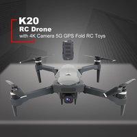 Nowy Drone K20 bezszczotkowy silnik 5G GPS Drone z 4K HD podwójny aparat profesjonalny składany quadcopter 1800M RC odległość zabawka w Drony z kamerą od Elektronika użytkowa na