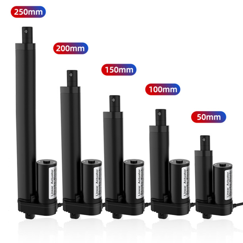 DC Linear Electric Actuator 50mm 100MM 150mm 200mm Stroke 12V Linear Actuator Motor Pound Electric Motor Linear Actuator