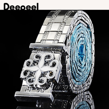 Deepeel1pc 3.2*100-120cm Men's Metal Stainless Steel Belt High-quality Luxury De