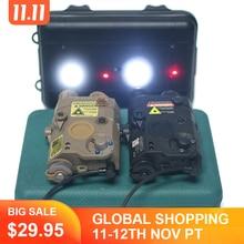 WADSN Airsoft LA 5 PEQ15 Red Dot IR Laser Sight Tactical LA5C PEQ 15 Weapon Flashlight 200lumes Hunting Armas White Scout Light
