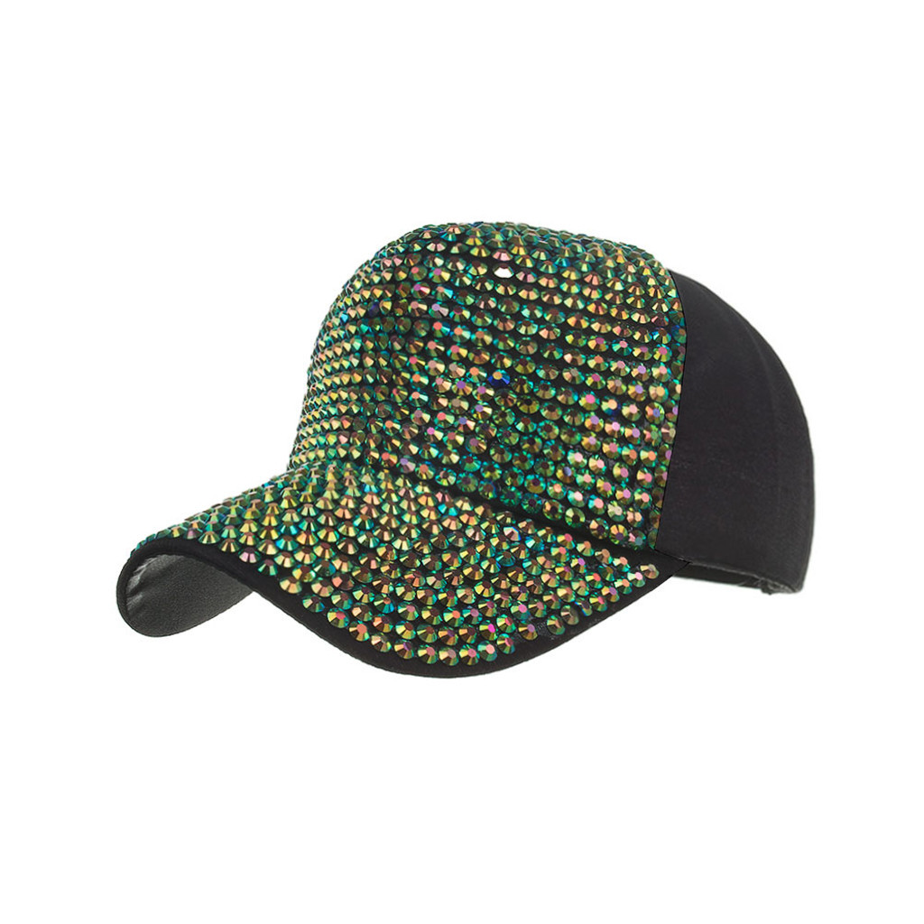 Men Women Baseball Caps Fashion Adjustable Cotton Cap Star Rhinestone Cap Outdoor Sun Hat Adjustable Sports caps in summer#T2 3