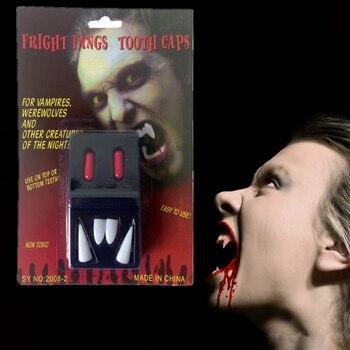 1set Halloween Spray Blood Capsule Vampire Teeth Demon Zombie Diy Movie Cos Terror Party Masquerade Dress Up Show Props halloween costume party kurten demon zombie scary vampire mask
