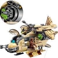 569Pcs Building Blocks 10377 Compatible legoinglys Space Wars Figures Gunship 75084 Model Educational Toys Children Gifts