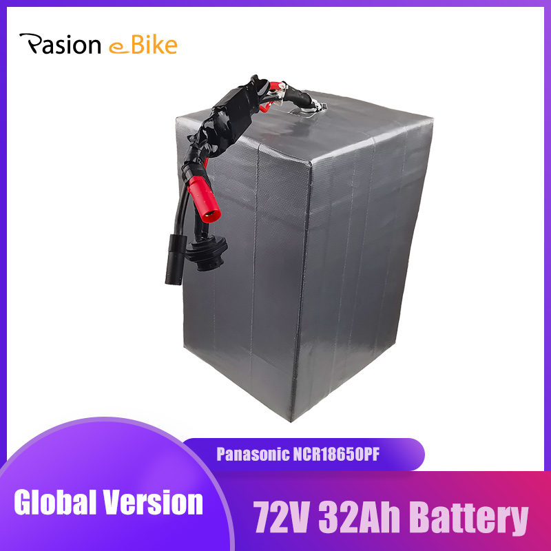 PASION E BIKE-batería de litio de 72V, 32ah, 3000W, paquete de batería de bicicleta eléctrica, Panasonic, cargador de 6A