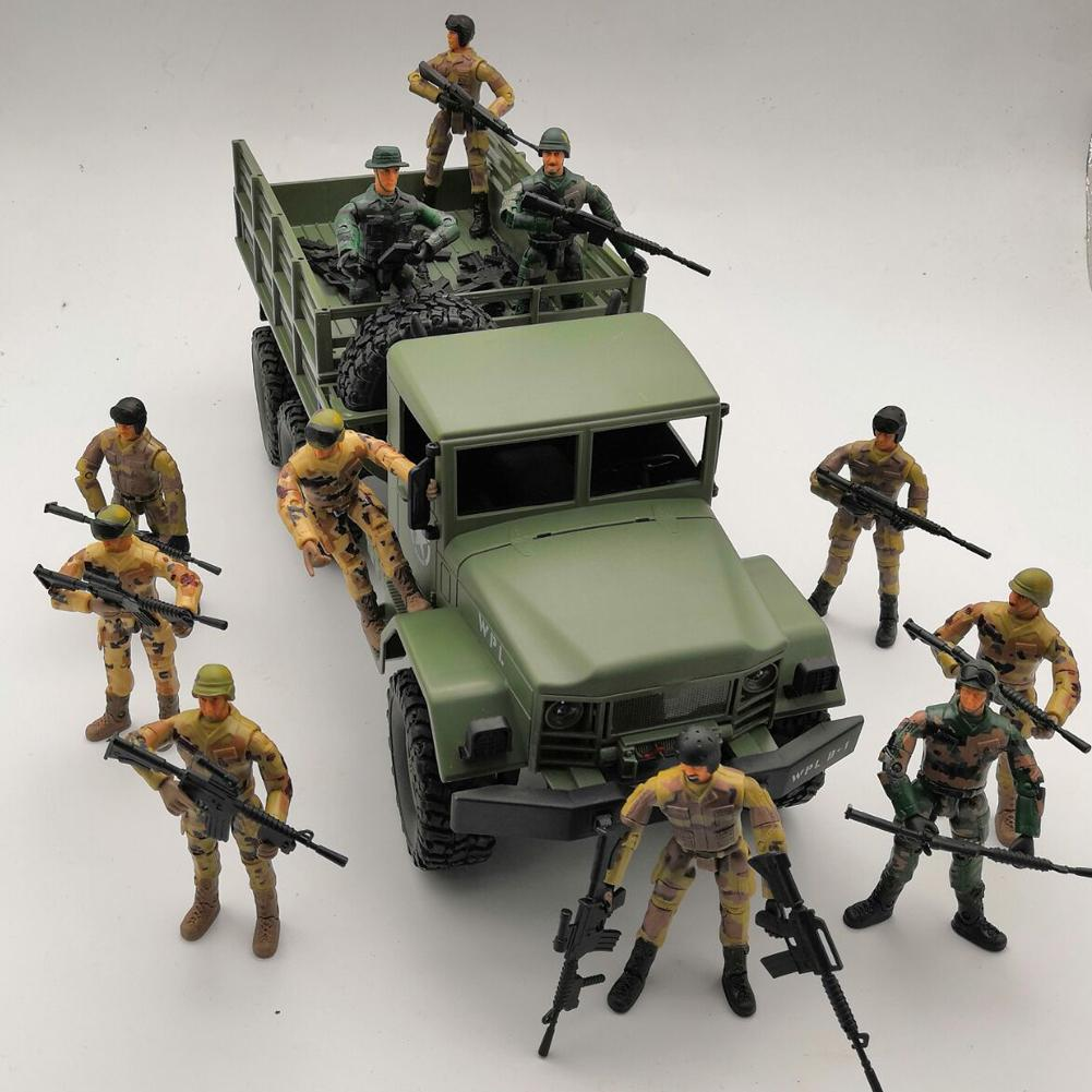 1pc WPL Military Special Forces Soldiers Doll With Decoration Multi-Joint Movable Kids Toys Action Figure Random Style