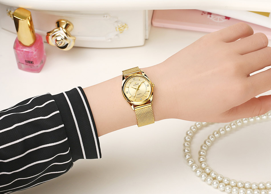 Gold Women Bracelet Watch