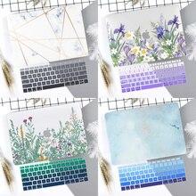 Чехол-клавиатура для ноутбука с мраморным цветочным узором для нового MacBook Air 13 Pro 13,3 15 дюймов retina Touch Bar A2159 A1932