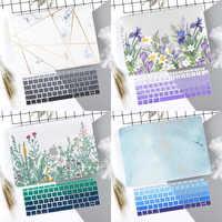 Marbre fleur motif ordinateur portable étui clavier couverture pour nouveau MacBook Air 13 2018 2019 Pro 13.3 15 pouces Retina Touch Bar A2159 A1932