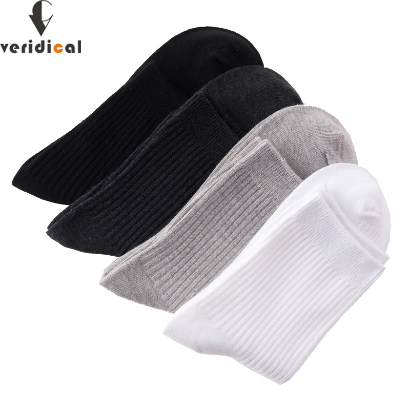 VERIDICAL Good Quality 5 Pairs/lot Men Woman Socks Cotton Business Harajuku Diabetic Fluffy Socks Meias Masculino Calcetines