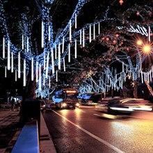 День Святого Валентина Водонепроницаемый 50 см 8 трубка праздничный Метеоритный Дождь светодиодный светильник для внутреннего и наружного сада Свадебная вечеринка Декор дерево