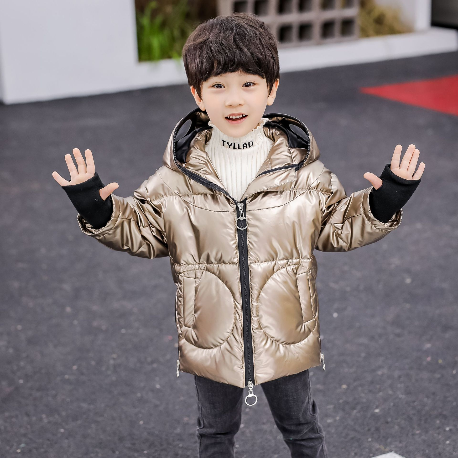 2019 Children's Winter Jacket Altman Down Parka For Boys Long Coats 90% Duck Down Girls Jackets Silver Gold Kids Snow Wear TZ152
