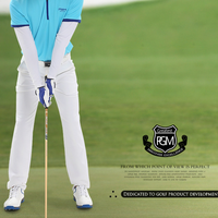 PGM Men Golf Club Ball Sports Pants Male High Elastic Trousers Slim Soft Breathable Pants Golf Clothing AA11845