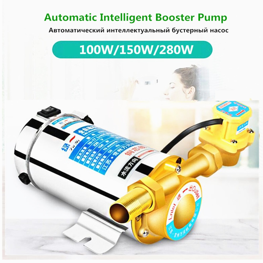 220V Booster Pump Household Mute For Tap Water Pipeline/heater With Automatic Flow Switch,Solar Energy Hot And Cold Water Pump