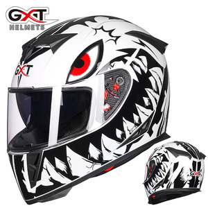 Image 3 - את האחרון GXT 358 אופנוע קסדה מלא פנים קסדת גברים של מירוץ capacete casco מוטוקרוס cascos