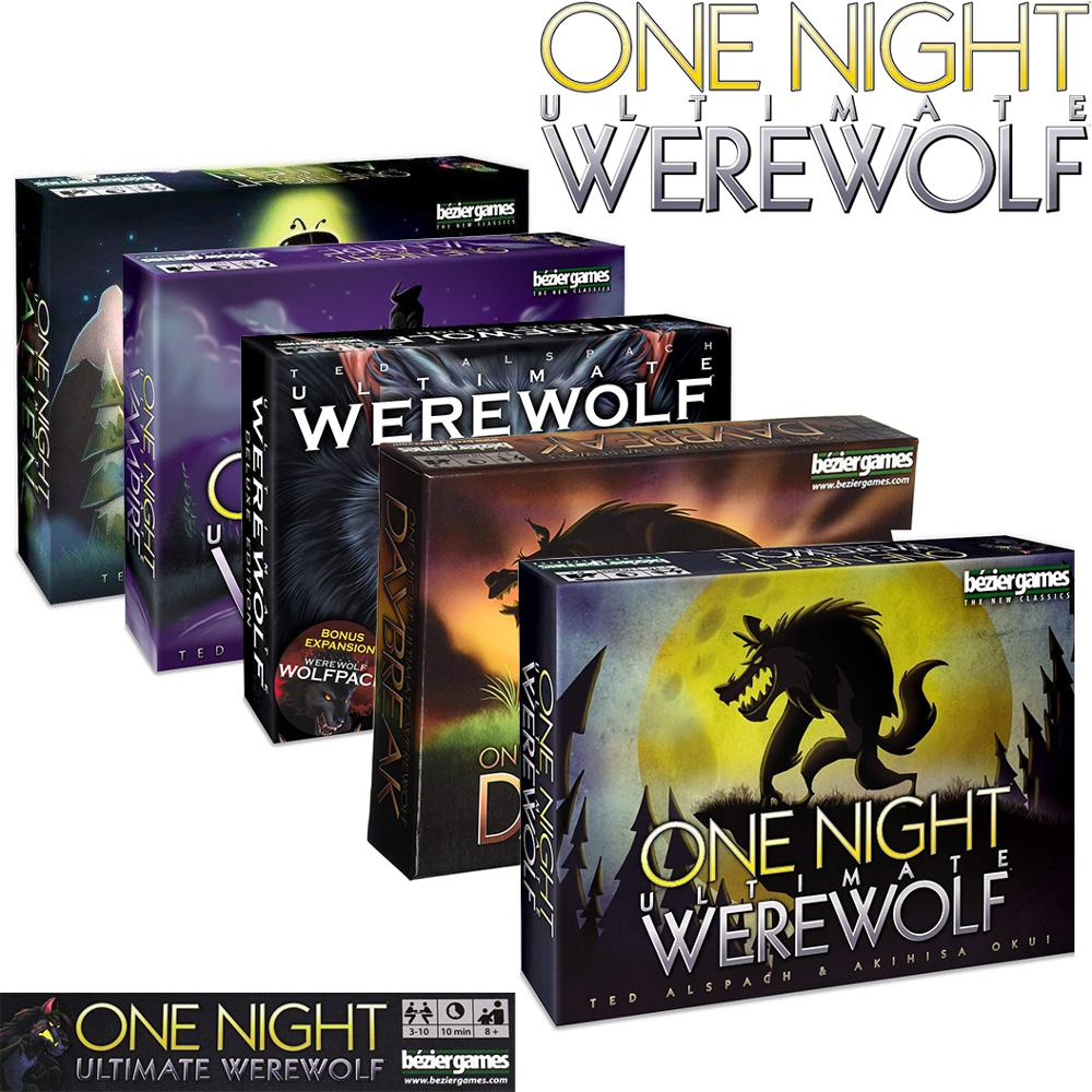 Bezier Games One Night Ultimate Werewolf &Daybreak &Deluxe Edition&Vampire&Alien Board Game Cards Party Entertainment Education