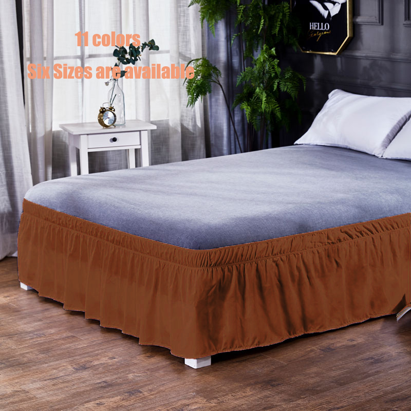 11 Colors Bed Skirt Brushed Cloth Bed Covers Without Bed Surface King Queen Size Elastic Band Bed Skirts 40cm Height Bedspread